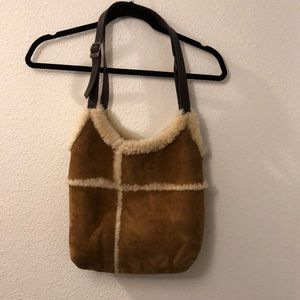 UGG shearling tote purse